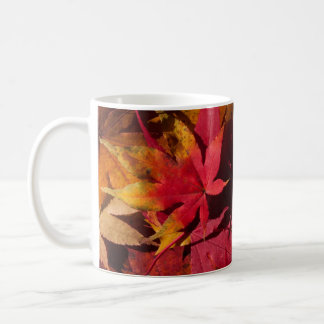 Autumn leaves mug, seasonal custom mug gift idea