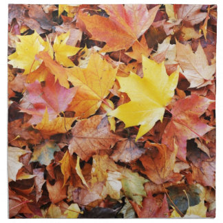 Autumn leaves napkin