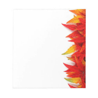 Autumn Leaves Notepad, Back to School Fall Supply Notepad