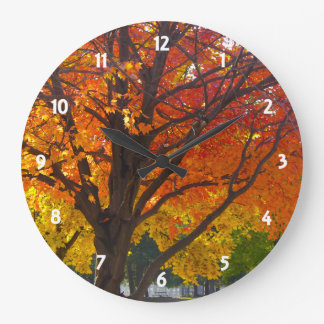 Autumn Leaves of Yellow and Orange Wall Clock