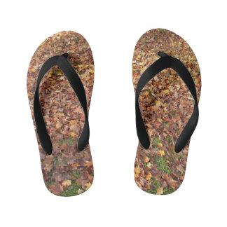 Autumn Leaves on Ground Kid's Flip Flops
