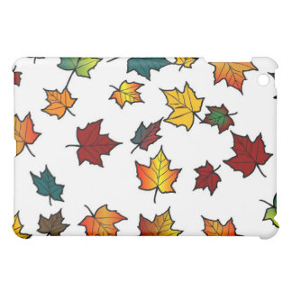 autumn leaves on white iPad mini covers