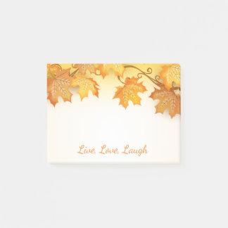 Autumn Leaves Orange Fall Rustic Country Post-it Notes