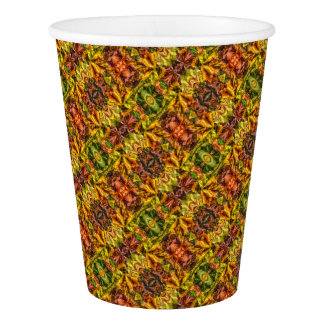 Autumn leaves paper cup