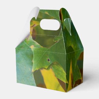 autumn leaves party favour boxes