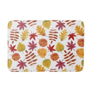 Autumn leaves pattern bath mats