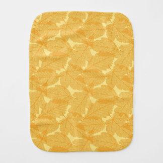 Autumn leaves pattern burp cloth
