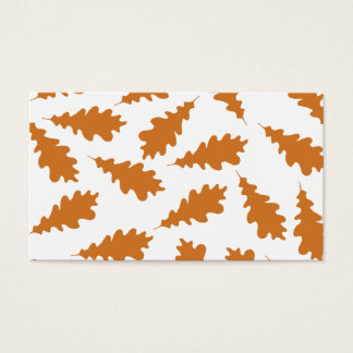 Autumn Leaves Pattern. Business Card