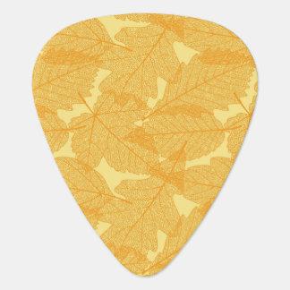 Autumn leaves pattern guitar pick