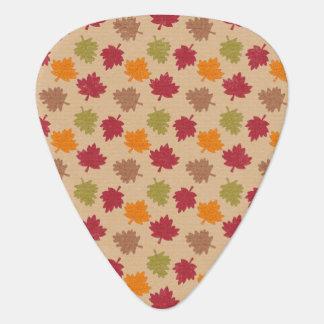 Autumn Leaves Pattern Plectrum