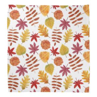 Autumn leaves pattern kerchiefs