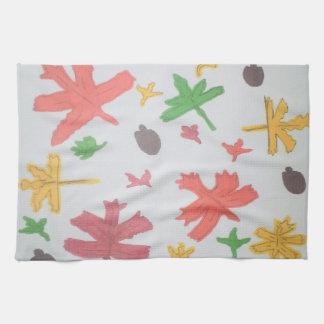 Autumn Leaves Pattern Kitchen Towel