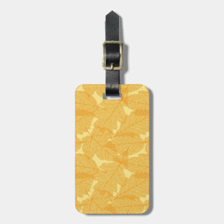 Autumn leaves pattern luggage tag