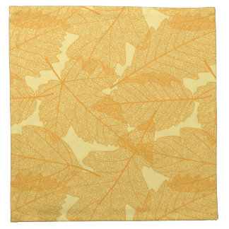 Autumn leaves pattern napkin