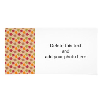 Autumn Leaves Pattern Photo Greeting Card
