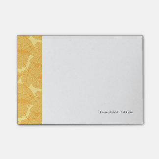 Autumn leaves pattern post-it notes