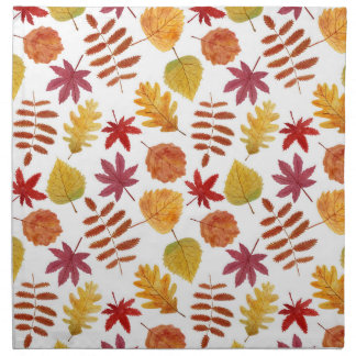 Autumn leaves pattern printed napkin