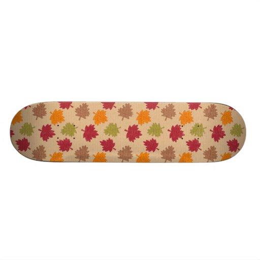 Autumn Leaves Pattern Skate Board