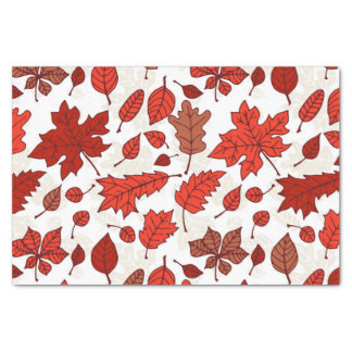 Autumn leaves pattern tissue paper