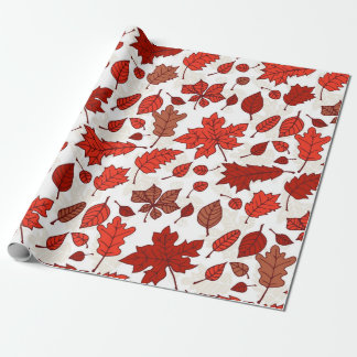 Autumn leaves pattern wrapping paper