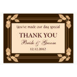 Autumn Leaves Personalised Wedding Favour Gift Tag Business Card Template