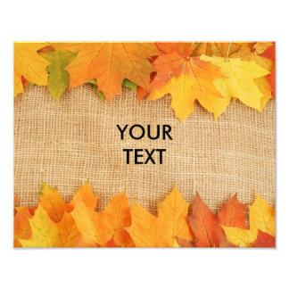 Autumn leaves photo art