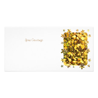 AUTUMN LEAVES PERSONALIZED PHOTO CARD