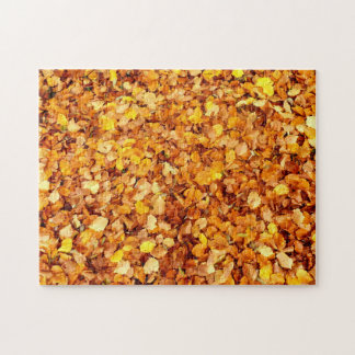 Autumn Leaves Photo Puzzle with Gift Box
