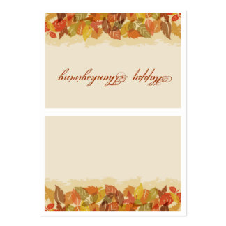 Autumn Leaves Place Card Business Card Templates