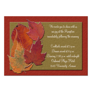 Autumn Leaves Reception Enclosure Card Pack Of Chubby Business Cards