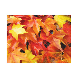 Autumn Leaves Red Yellow Orange Fall Canvas art Canvas Prints