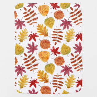 Autumn leaves seamless pattern baby blanket