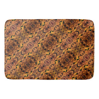 Autumn Leaves Silhouette Modern Pattern Bath Mat