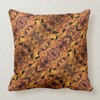 Autumn Leaves Silhouette Pattern Cushion