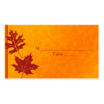 Autumn Leaves Special Occasion Place Cards Business Card Templates