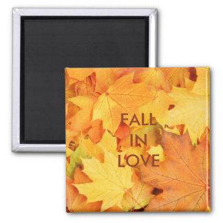 Autumn Leaves Square Magnet