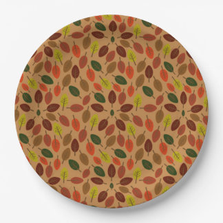Autumn leaves star paper plate