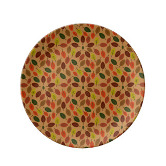 Autumn leaves star porcelain plate