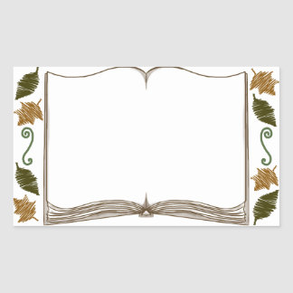 Autumn Leaves Sticker Bookplate