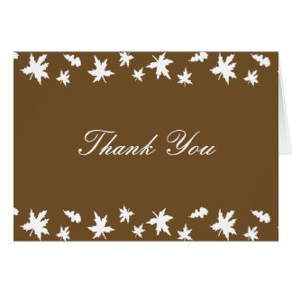 Autumn Leaves Thank You Note Card