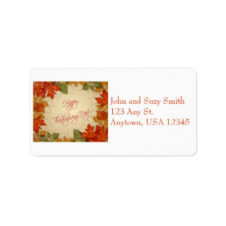 Autumn Leaves Thanksgiving Address Label