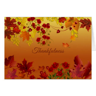 Autumn Leaves Thanksgiving/All-Occasion Card