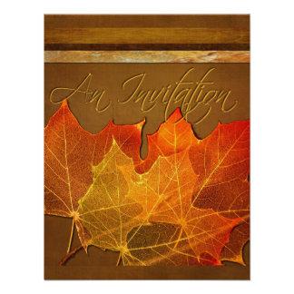 Autumn Leaves Thanksgiving Announcements
