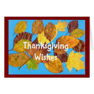 'Autumn Leaves'  Thanksgiving Card
