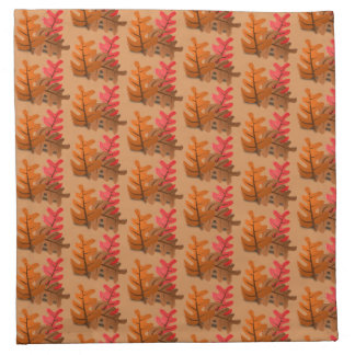 Autumn Leaves Thanksgiving Cloth Napkin