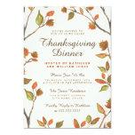 Autumn Leaves Thanksgiving Dinner 13 Cm X 18 Cm Invitation Card