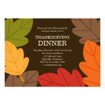 Autumn Leaves Thanksgiving Dinner Invitation Custom Invite
