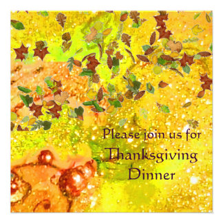 AUTUMN LEAVES Thanksgiving Dinner Personalized Announcements