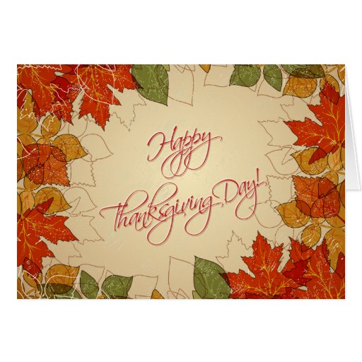 Autumn Leaves Thanksgiving Greeting Greeting Cards