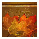 Autumn Leaves Thanksgiving Personalized Announcements